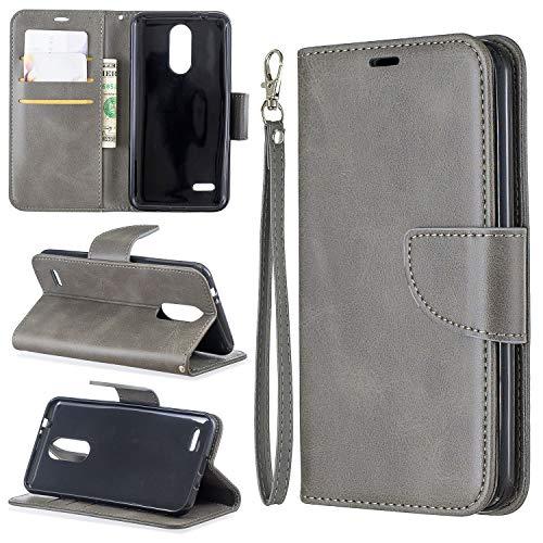 Cubierta de la caja del tirón del teléfono Estuche para LG K8 2018 Multifuncional Cartera Teléfono Móvil Caja de cuero Premium Color Sólido PU Funda de cuero, Titular de la tarjeta de crédito Función
