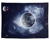 NC153 Luna Noche Tapiz Paisaje Natural Nubes estrelladas Colgante de Pared decoración estética Dormitorio apartamento Tapiz 150 × 100 cm