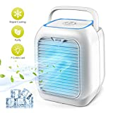 Mulandd Personal Air Conditioner Fan, Air Personal Space Cooler Small Desktop Fan Quiet Personal Table Fan Mini Evaporative Air Circulator Cooler Humidifier Bladeless Quiet for Office, Dorm, Room.