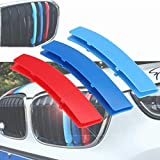 NO LOGO FJY-Printemps 3pcs 3D Car Racing Grill Sport Stripe ABS Clip Decal Sticker for BMW Série 3 F30 F31 F35 E90 Série 5 F10 F18 E60 X5 X6 E70 E71 (Couleur : F30 F31 11 Bars)
