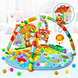 VATOS Palestra giocattolo neonato, 4-in-1 Toddler Activity Center Einstein Gym con sonaglio e palla...