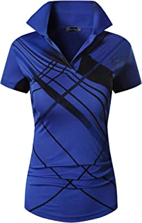 jeansian Women's Outdoor Sport Quick Dry Short Sleeves Polo T-Shirt SWT251