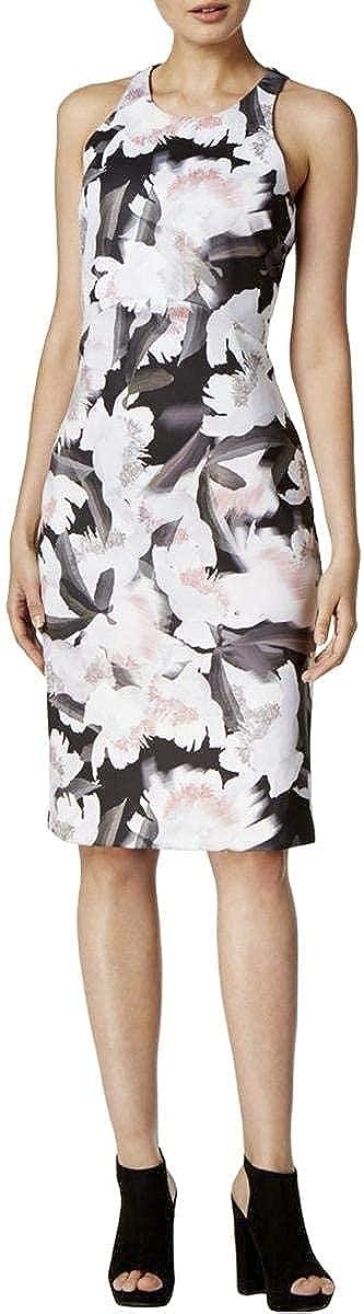 bar III Womens Floral A-Line Dress