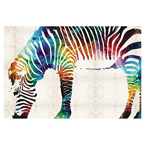Puzzle-s, 300/500/1000 Stück for Erwachsene - Animal Colored Zebra s (Size : 500pieces)