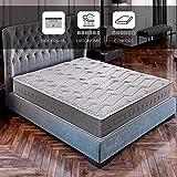 ROYAL SLEEP Colchón viscoelástico Carbono 140x200 firmeza Alta, Gama Alta, Efecto regenerador, Altura 25cm - Colchones Ceramic Plus