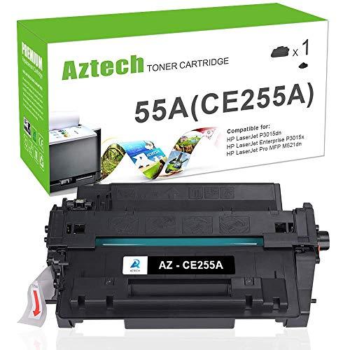 Price comparison product image Aztech Compatible Toner Cartridge Replacement for HP 55A CE255A 55X CE255X Laserjet Enterprise P3015dn P3015x Laserjet Pro 500 MFP M521dn M521dw (Black,  1-Pack)