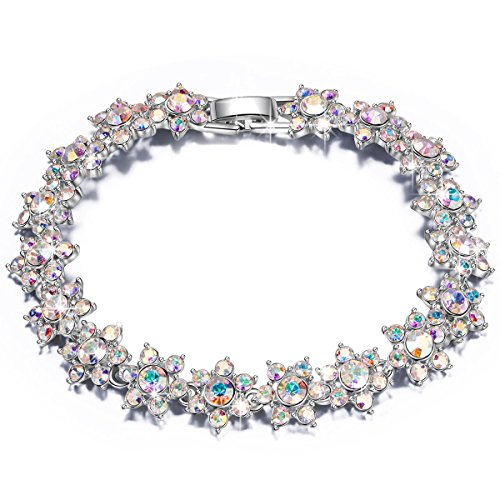 QIANSE Christmas Bracelets Gifts for Women Princess Charlotte Crystals Tennis Bracelets for Women Jewelry for Women Bracelet for Women Birthday Anniversary Gifts for Women Girlfriend Daughter