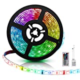 Applighting LED Strip Lights, 16.4ft RGB Light Strip, SMD5050 150leds Color Changing LED Tape Lights Kit with 44 Keys Remote Controller for TV, Bedroom, Kitchen Under Counter, Under Bed Lighting