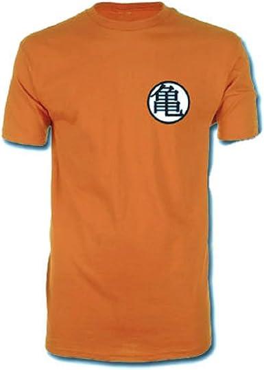 Dragonball Z Dragon Ball Z - Kame para hombre de la camiseta del símbolo - Naranja - S