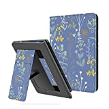 Ayotu Folding Case for All-New Kindle 10th Gen 2019 Release,with Auto Wake/Sleep,Lightweight Leather Hands-Free Stand Cover with Hand Strap(Not Fit Kindle Paperwhite),Twilight Garden