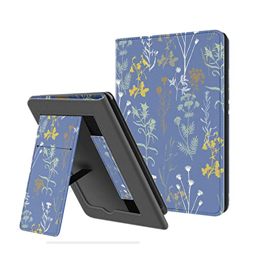 Ayotu Folding Stand Case for Kindle Paperwhite 2018 - with Auto Wake/Sleep, PU Leather Cover with Hand Strap, Only for Kindle Paperwhite 10th Generation 2018 Released, K10 Twilight Garden