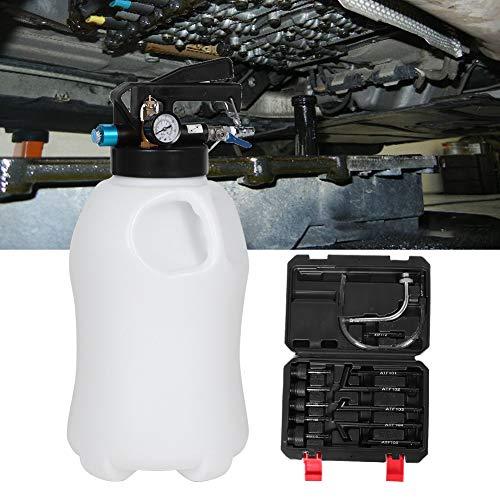Getriebeöl, 10L Pneumatische Getriebeölfüllung Dispenser Tool Maschine Air Auto Getriebeöl Extractor mit 13 Stücke ATF Adapter