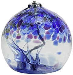 Kitras Glass Tree of Winter oil lamp