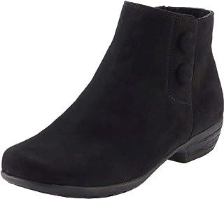 Walking Cradles Womens Evan Suede Flat Ankle Boots
