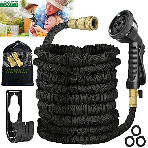Garden Hose Expandable Garden Pipes 100FT Flexible Garden Hose with 8...