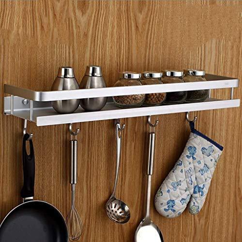 MXueei Douche opslag ZfgG Badkamer planken Dikke steiger voor keuken specerijen, aluminium wandplank voor badkamer, single-layer haak badkamer plank