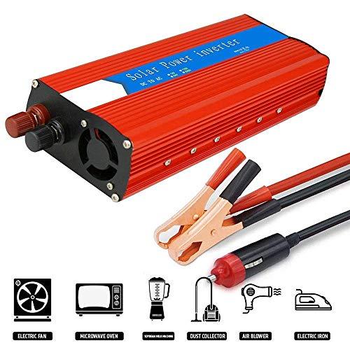AIOXY Wechselrichter 3000W (Peak 6000W), Reiner Sinus Wechselrichter, DC 12V / 24V Auf AC 110V / 230V Spannungswandler, Autoladeadapter Mit USB Anschluss,12vTo230v