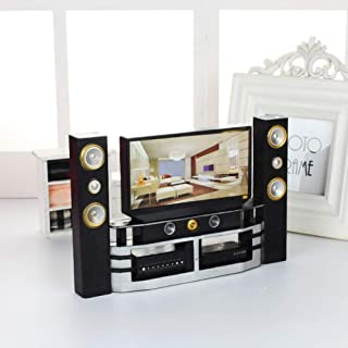 Haokaini Miniature Toy Television Cabinet Furniture Set Set Model for Doll House Accessories for Dollhouse Decoration