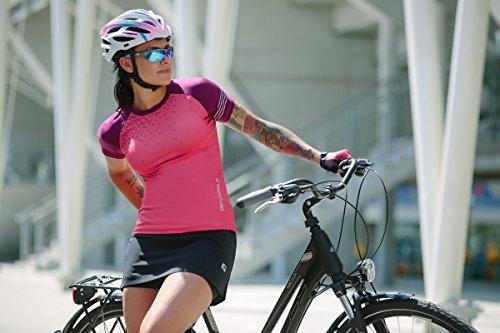 Intelligence Quality Damen MENA WMNS Fahrrad Rock| Radrock | Coolmax Sitzpolster, Black, S - 6