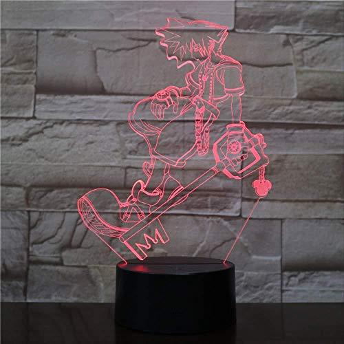 3D Illusion Nachtlicht 7 farbe Led Vision nachttisch multi dekorative jungen kinder baby spieltisch taste schlafzimmer wohnzimmer kinderzimmer dekoration bunte Kreative geschenk Fernbedienung