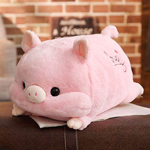 Plush Toys 1pc Soft Kawaii Love Pig Plush Pillow Stuffed Cute Animal Cushion Hand Warmer Chinese Zodiac Pig Toy Doll Birthday Gift Kid(50cm) Purple