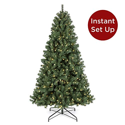 Best Choice Products 7.5ft Pre-Lit Instant No Fluff Artificial Spruce Christmas Tree w/ 550 LED...