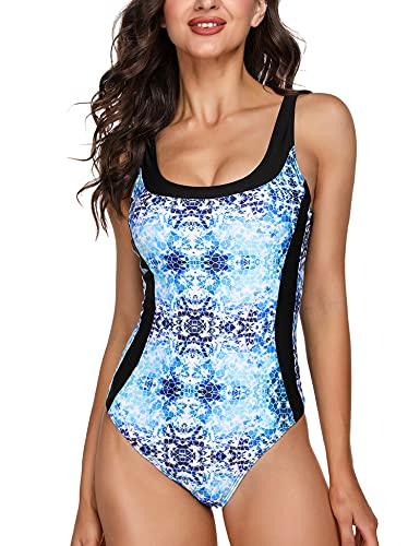 Sykooria Costume da Bagno Intero Donna con Push-up Imbottitura Estraibile per...