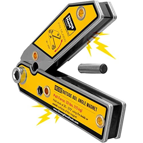 Herramientas de mano fuertes, cuadrado magnético de ángulo ajustable, 6 pulgadas, ángulo de 30° a 270°, imanes...