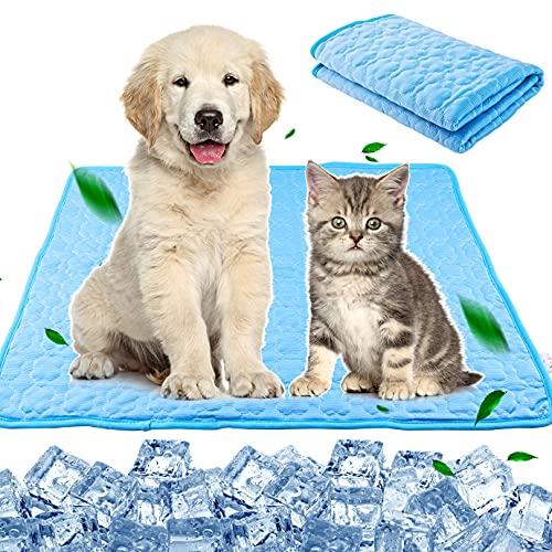 KONUNUS Alfombrilla de refrigeración para perro, manta de refrigeración para mascotas, alfombrilla de verano, lavable, cama para dormir para perros y gatos, L