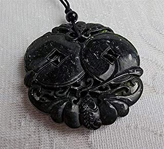 Bat Jewelry Amulet Bat for good luck carved Jade Antique Nephrite Carved Chinese Pendant Necklace 3D