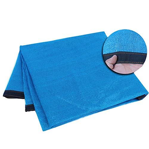 BRFDC Sombra Solar Malla Azul 90% de Sombra Tasa Patio Balcón suculentas cifrado sombreado Netos, 22 Tamaños (Color : Blue, Talla : 3x8m)