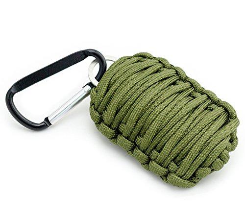 Portachiavi per la pesca 'Paracord granata' in verde oliva del PRECORN marchio