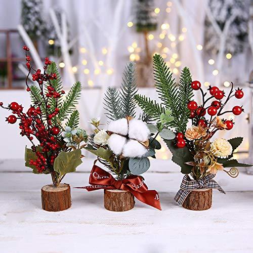 COJJ Decoración navideña, Ramas de Pino, Adornos Florales, Tienda de Regalos para niños, Vitrina de Restaurante, arreglo de 5 arbolitos