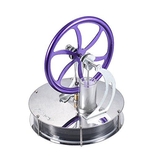 Aibecy LL-001 低温度差 スターリング エンジン モーター ヒートスチーム 模型DIYキット 教育/科学/実験 (パープル)