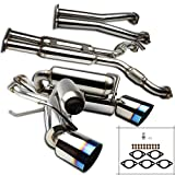 Spec-D Tuning Dual Catback Exhaust System Burnt Tip for 2003-2009 Nissan 350Z Z33 Fairlady Z