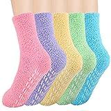 SIMIYA Damen Socken Warme Wintersocken Hausschuhsocke super weiche Mikrofaser Rutschfeste Home Socks (5 Paar)