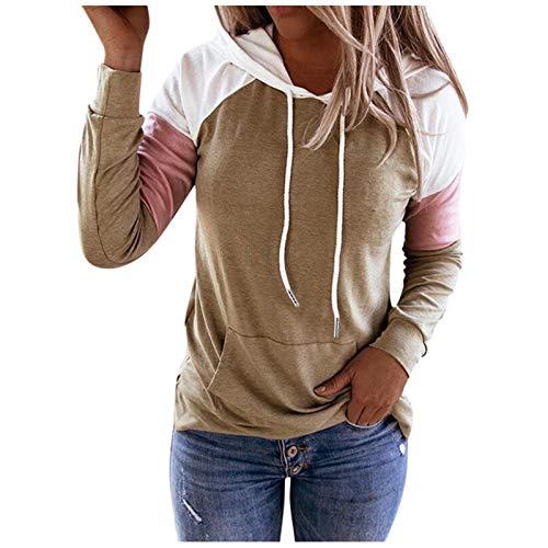 Dicomi Frauen Hoodie Sweatshirt Casual Pullover Langarm Shirt Pullover Kapuzenjacke Mäntel T-Shirt Bluse Top