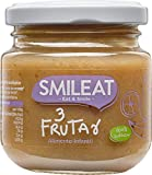 Smileat , Potito Tres Frutas Ecológico - Paquete de 12 x 130 gr - Total: 1560 gr