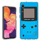 Galaxy A10e Case [Cyan Gameboy](Clear) PaletteShield Flexible Slim TPU Skin Phone Cover (fit Samsung Galaxy A10e)
