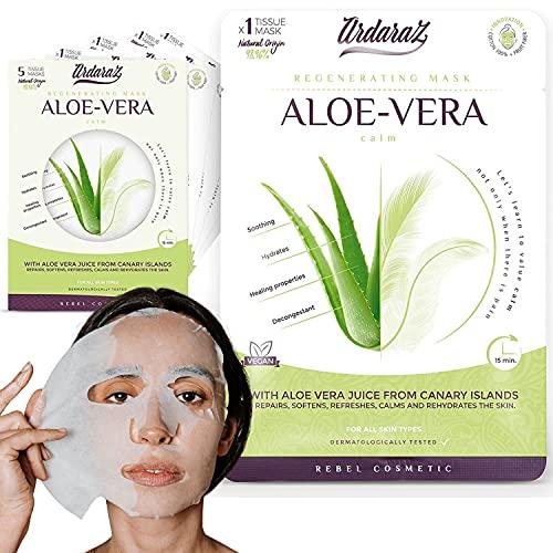 Maschera viso Lenitiva Riparatrice con Aloe Vera e Acido Ialuronico di Ardaraz