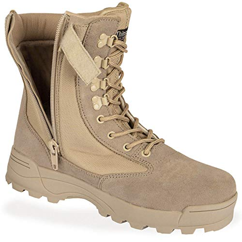 BW-ONLINE-SHOP SWAT Security Tactical - Botas con cremallera, color Beige, talla 42 EU