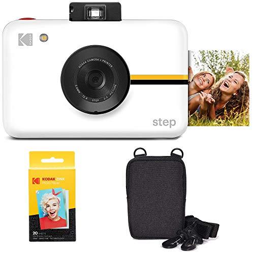 KODAK Step Cámara Digital con Sensor de Imagen de 10 MP (Blanco) Kit de Viaje