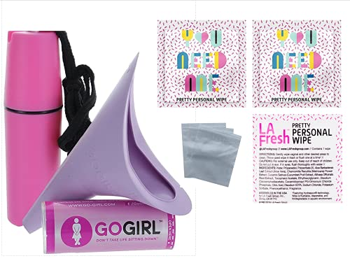 Go Girl Female Urination Device, Lavender & Waterproof for Spills & Splashes Tote Holder. LA Fresh...
