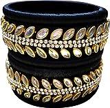 GOELX Oferta festiva: Elegante & Hermoso conjunto de pulseras Kundan hechas a mano para mujeres en