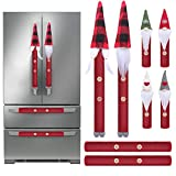 Christmas Refrigerator Handle Covers Set of 8,Adorable Swedish Gnomes Kitchen Appliance Handle Covers, Christmas Door Decoration for Microwave Oven Dishwasher Fridge Door Handle Covers Protector