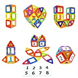 Soyee Magnetic Blocks STEM Educational Toys Magnet Building Block Tiles Gifts for 3 4 5 6 7 Year Old Boys and Girls