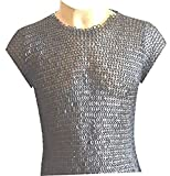 Allbeststuff Chain Mail Vest 9 MM Flat Riveted with Washer Medieval Armour ABS