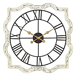 Aspire Eloise French Country Wall Clock, White