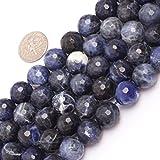 Sweet und Happy Girl's Store 12mm r& Facette geschliffen Edelstein Sodalith Perlen Strang 15 Zoll Schmuckherstellung Perlen