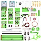 Vogvigo Physics Kit de aprendizaje de circuito eléctrico, laboratorio de ciencias Experimento básico de magnetismo de electricidad Kits de aprendizaje educativo para niños